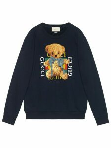 Gucci Gucci logo sweatshirt with teddy bear - Black
