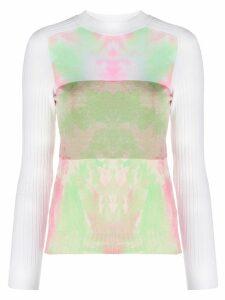 Courrèges paint splatter effect sweater - White