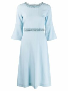 Goat Islay bead embellished dress - Blue