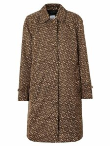 Burberry Keatsbridge single breasted Monogram print coat - Bridle