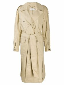 Coach single-breasted trench coat - Neutrals