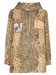 Burberry tiger-print lightweight jacket - Brown