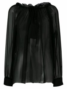 Alberta Ferretti lace-embroidered blouse - Black