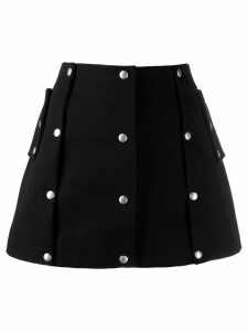 Courrèges button skirt - Black