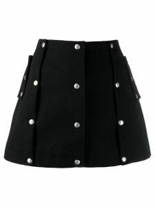 Courrèges button skirt - Black