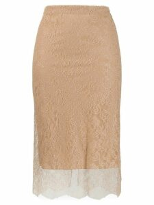 Tom Ford layered lace skirt - NEUTRALS