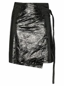 Helmut Lang vinyl wrap skirt - Black