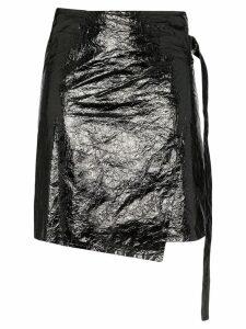 Helmut Lang vinyl wrap skirt - Black
