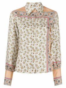 Chloé floral paisley print silk shirt - Neutrals