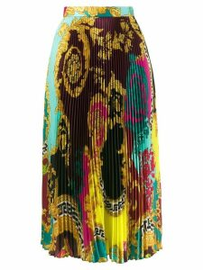 Versace Baroque print pleated skirt - Multicolour
