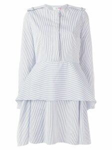 Stella McCartney striped peplum dress - White