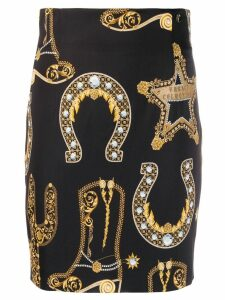 Versace Collection all-over print skirt - Black