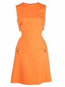 Sara Battaglia cut out detail dress - Orange