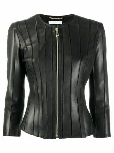 Versace Collection stitched panel jacket - Black