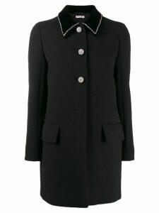 Miu Miu crystal trim blazer - Black