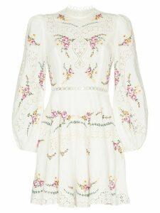 Zimmermann Allia floral print mini dress - White