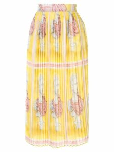 Tata Naka pleated printed skirt - Yellow