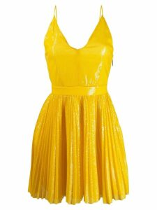 MSGM short pleated dress - Yellow