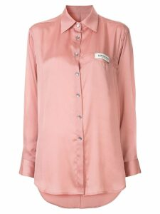 Kimhekim oversized logo tag shirt - Pink