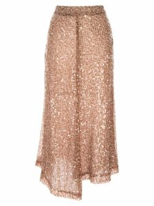 Walk Of Shame sequined midi skirt - Brown