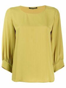 Luisa Cerano boxy round neck blouse - Green