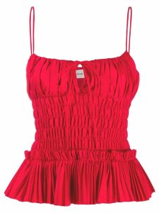 Khaite ruched cami top - Red