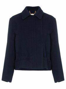 Chloé drawstring cropped jacket - Blue