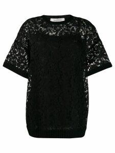 Valentino heavy lace T-shirt - Black