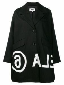 Mm6 Maison Margiela printed coat - Black