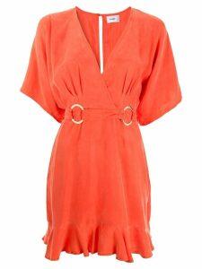 Suboo Rocky wrap mini dress - Orange