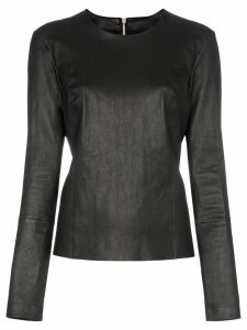 Helmut Lang zip-back top - Black