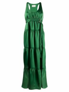 Cédric Charlier panelled maxi dress - Green