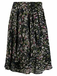 Ganni floral print skirt - Black
