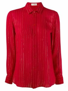Saint Laurent metallic pinstripe shirt - Red