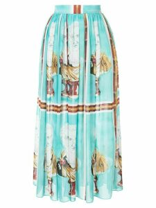 Tata Naka all-over print skirt - Green