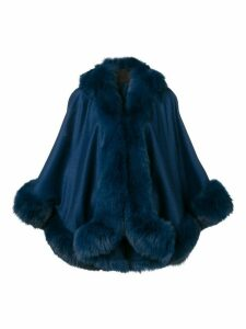 Liska short cape jacket - Blue