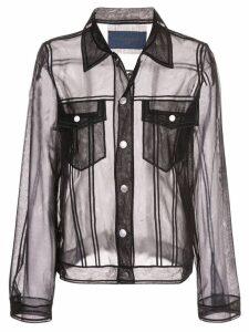 Viktor & Rolf sheer shirt jacket - Black