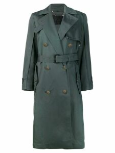 Givenchy belted oversized trench coat - Green