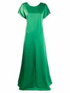 Cédric Charlier open back gown - Green