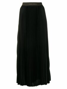 Luisa Cerano long pleated skirt - Black