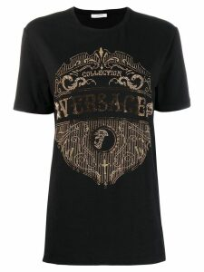 Versace Collection embellished logo T-shirt - Black