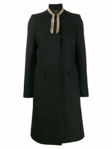 Just Cavalli chain embellished coat - Black