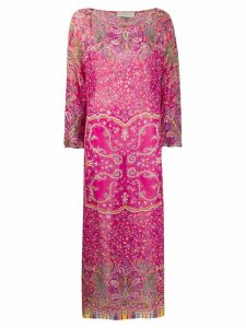 Etro floral paisley maxi dress - Pink