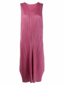 Pleats Please By Issey Miyake pleated midi dress - Pink