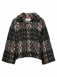 Co check printed coat - Black