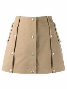 Courrèges button skirt - Neutrals