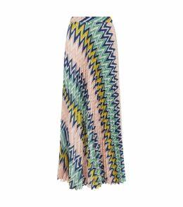 Zig Zag Pleated Skirt