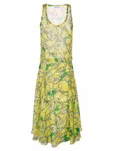 Diane von Furstenberg lemon print midi dress - Yellow