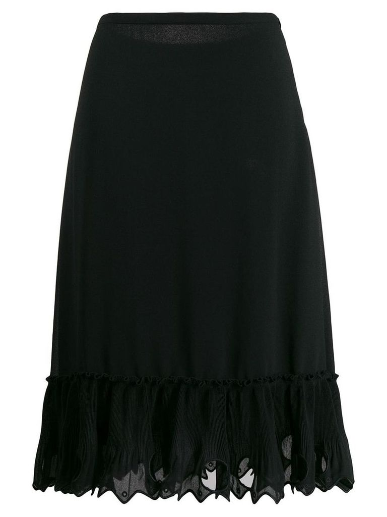 See By Chloé embroidered midi skirt - Black