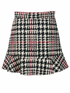 Red Valentino houndstooth check skirt - Black
